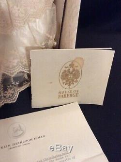 Franklin Mint Heirloom House of Faberge Christening Doll Porcelain Doll 1989