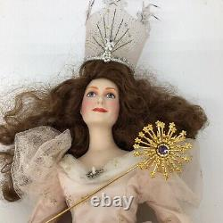Franklin Mint Heirloom Porcelain Dorothy, Cowardly Lion Glinda Doll Wizard of Oz