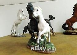 Franklin Mint Horse BLACK BEAUTY AND MERRYLEGS Pamela du Bouley Porcelain
