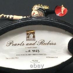 Franklin Mint House of Erte Pearls & Rubies Porcelain Figurine # A1045