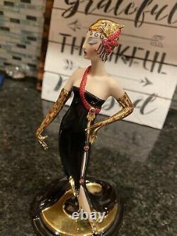Franklin Mint House of Erte Porcelain Figurine UNTAMED BEAUTY Limited Edition