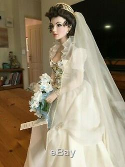Franklin Mint Katya Russian Bride Porcelain Collectible Doll RARE