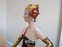 Franklin Mint LE A2004 House of Erte Porcelain UNTAMED BEAUTY Lady 9 Figurine