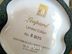 Franklin Mint LE B8693 House of Erte Porcelain LEOPARD & Lady 9 Figurine