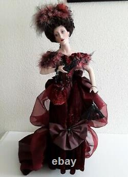 Franklin Mint Lady Luck at Monte Carlo 22 Porcelain Doll withBox