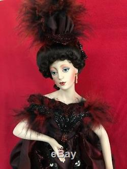 Franklin Mint Lady Luck in Monte Carlo Porcelain Heirloom Gibson Girl Doll