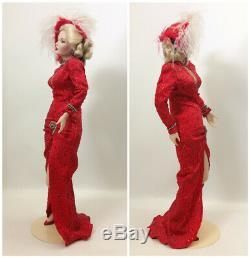 Franklin Mint Marilyn Monroe Gentlemen Prefer Blondes Porcelain Collector Doll