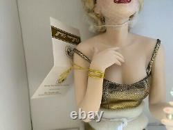 Franklin Mint Marilyn Monroe Porcelain Doll ALWAYS MARILYN Gold Dress