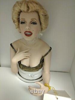 Franklin Mint Marilyn Monroe Porcelain Doll ALWAYS MARILYN Gold Dress NIB