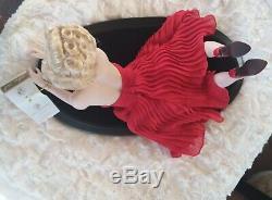Franklin Mint Marilyn Monroe Porcelain Doll FOREVER MARILYN in Red Dress