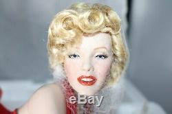 Franklin Mint Marilyn Monroe Porcelain Doll Forever Marilyn NEW w SHIPPER COA