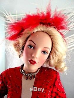 Franklin Mint Marilyn Monroe Porcelain Doll Gentlemen Prefer Blondes Coa & Box
