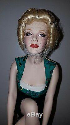 Franklin Mint Marilyn Monroe Porcelain Doll NIB Unforgettable Marilyn RARE