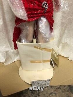 Franklin Mint Marilyn Monroe Porcelain Doll Red DressGentlemen Prefer Blondes