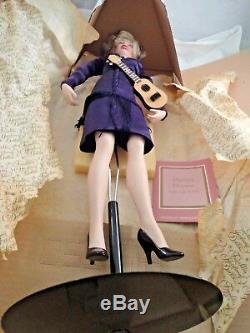 Franklin Mint Marilyn Monroe Porcelain Doll Some Like It Hot In Box Nib Coa