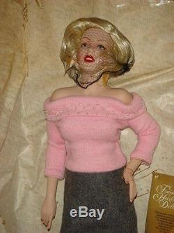 Franklin Mint Marilyn Monroe Porcelain Doll Sweater Girl New