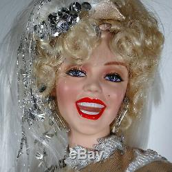 Franklin Mint Marilyn Monroe Porcelain Doll There No Business Like Show Business