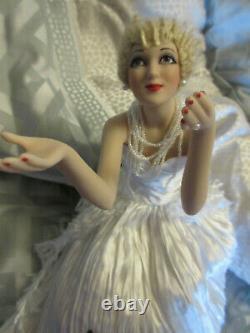 Franklin Mint Marilyn Monroe Porcelain Reflections of Moonlight in Box