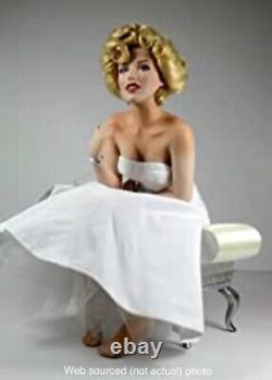 Franklin Mint Marilyn Monroe porcelain doll, portrait With Satin Seat