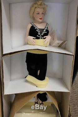Franklin Mint Marilyn Porcelain Doll Irresistible, Marilyn With Fireplace RARE