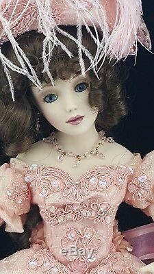Franklin Mint Maryse Nicole Peony Porcelain Doll