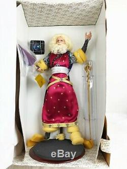 Franklin Mint Merlin Magician Wizard Camelot Series Porcelain Doll with Stand BOX
