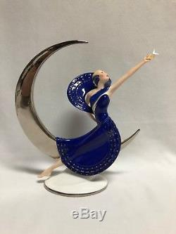 Franklin Mint Moonlight in Platinum Art Deco Porcelain Figurine