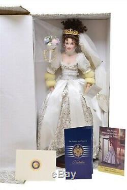 Franklin Mint Natalia Faberge Spring Bride Porcelain Doll NIB