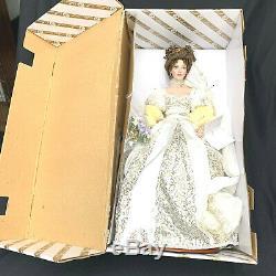 Franklin Mint Natalia Spring Bride Porcelain Collectors Faberge Doll NRFB