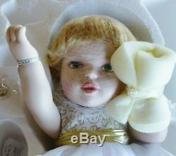 Franklin Mint Porcelain Angel Kisses Baby Portrait doll LE 1000 B11E915 NRFB