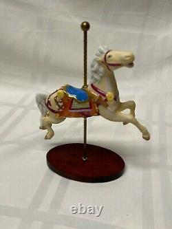 Franklin Mint Porcelain Carousel Animals with Carousel