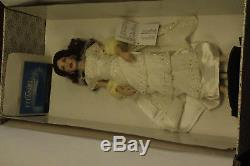 Franklin Mint Porcelain Collector Doll Titanic Rose Reunited White Dress In Box