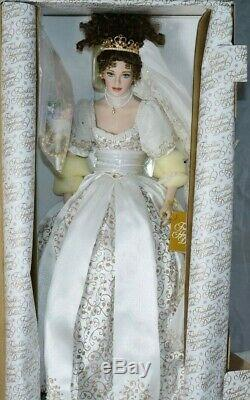 Franklin Mint Porcelain Doll Faberge Natalia Imperial Russia Bride NEW COA