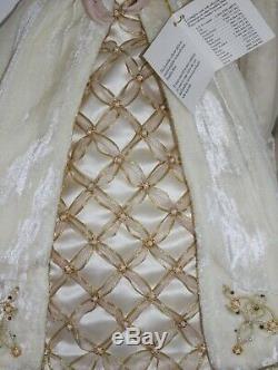 Franklin Mint Porcelain Faberge' Aleksandra Winter Bride Doll, New in the Box