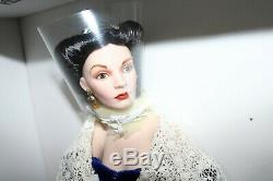 Franklin Mint Porcelain Gone With The Wind Scarlett's O' Hara Portrait Doll NEW
