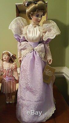 Franklin Mint Porcelain Heirloom Dolls Gibson Girls Promenade