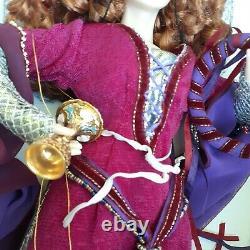 Franklin Mint Porcelain Morgana Le Fay and Merlin Magician Wizard Doll Original