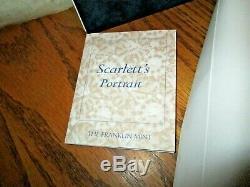 Franklin Mint Porcelain Portrait Scarlett NRFB COA Complete