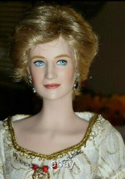Franklin Mint Porcelain Princess Diana OOAK Repaint Queen Doll
