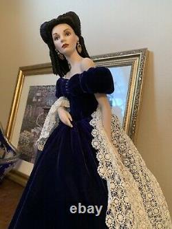 Franklin Mint Porcelain Scarlett OHara Portrait Doll Rare