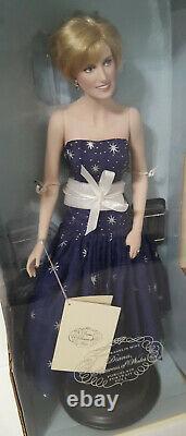 Franklin Mint Princess Diana Doll ENCHANTMENT Porcelain Doll NIB