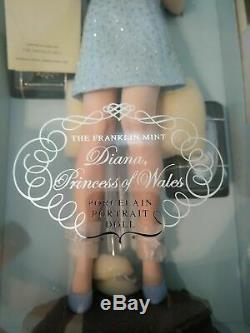 Franklin Mint Princess Diana Doll Porcelain Millennium Swan Lake LE/2000 17 COA