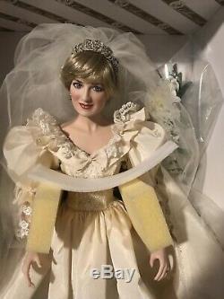 Franklin Mint Princess Diana Doll Porcelain Wedding/Bride DollNEW IN BOX, NRFB