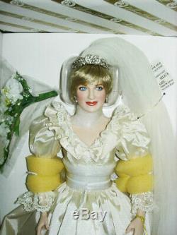 Franklin Mint Princess Diana Doll Porcelain Wedding Bride Doll