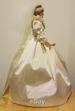 Franklin Mint Princess Diana Doll Porcelain Wedding/Bride Doll