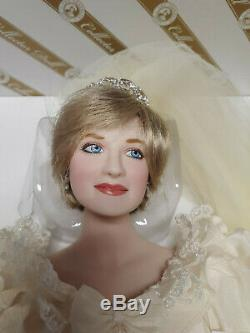Franklin Mint Princess Diana Doll Porcelain Wedding/Bride Doll LE SEALED COA