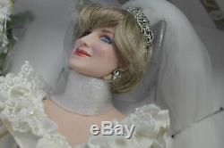 Franklin Mint Princess Diana Doll Porcelain Wedding/Bride Doll Limited Ed