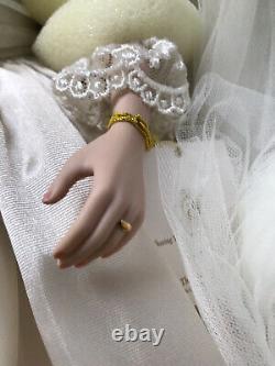 Franklin Mint Princess Diana Doll Porcelain Wedding/Bride Doll MINT CONDITION