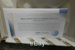 Franklin Mint Princess Diana Doll Porcelain Wedding/Bride Doll W COA Limited Ed