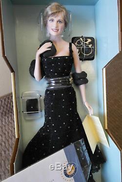 Franklin Mint Princess Diana Doll Sophistication Porcelain 17 Sealed COA